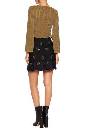VANESSA SEWARD Metallic open-knit sweater