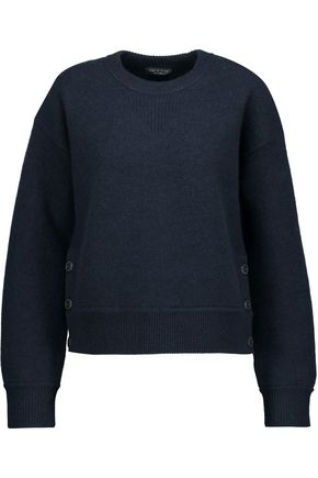 RAG & BONE Kassidy button-detailed merino wool felt sweater