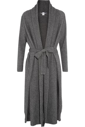 ROSETTA GETTY Ribbed wool and cashmere-blend cardigan