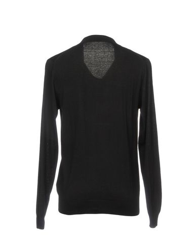 Фото 2 - Мужской свитер PAOLO PECORA черного цвета