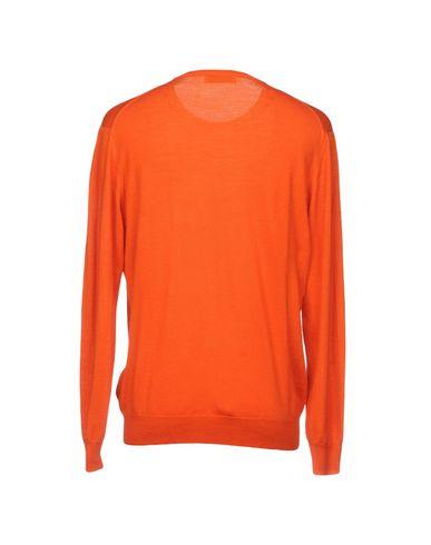 Фото 2 - Мужской свитер  оранжевого цвета
