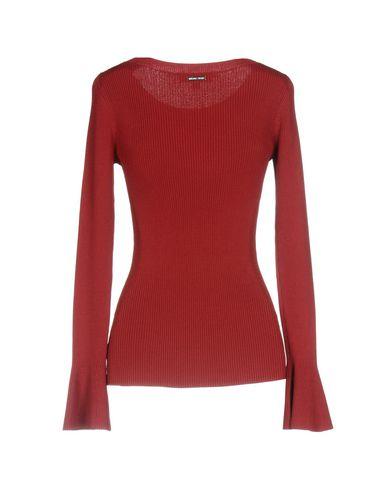 Фото 2 - Женский свитер  красно-коричневого цвета