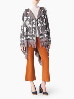Floral knit cape