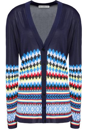MARY KATRANTZOU Striped knitted cardigan