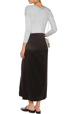 ALICE + OLIVIA Callan cropped striped wool-blend top
