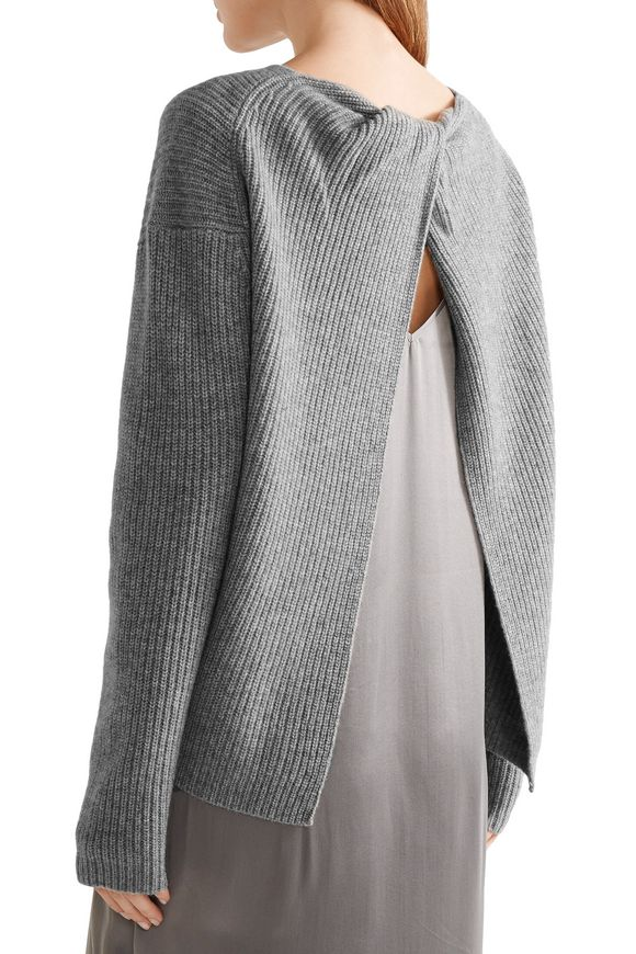4eddb54cfac Split-back ribbed cashmere sweater | THEORY | Sale up to 70% off ...