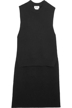 DKNY Ribbed cotton-blend tunic