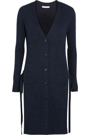 SEE BY CHLOÉ Side-split ribbed wool cardigan