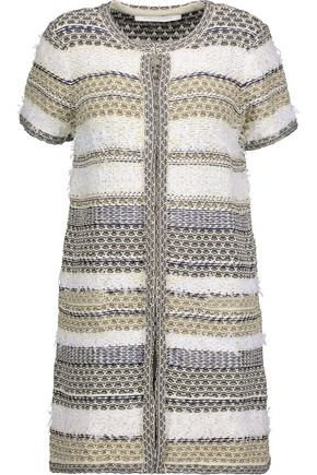 DIANE VON FURSTENBERG Metallic cotton-blend cardigan