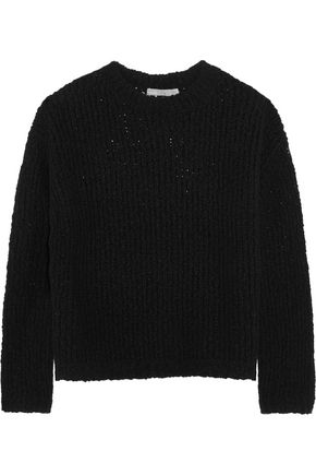 VINCE. Textured stretch merino wool-blend sweater