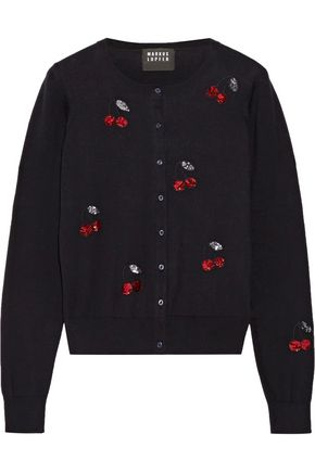 MARKUS LUPFER Sequin-embellished cotton cardigan