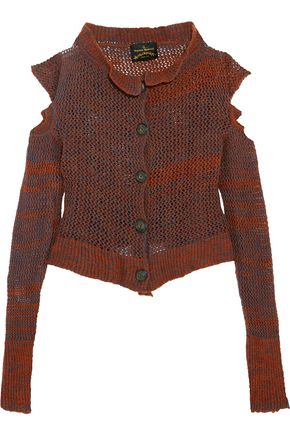 VIVIENNE WESTWOOD ANGLOMANIA Cropped cutout wool-blend cardigan
