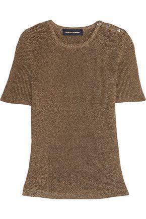 VANESSA SEWARD Biham metallic ribbed-knit top