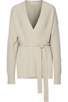 10f63564065d HELMUT LANG Ribbed-knit wool and cashmere-blend cardigan ...