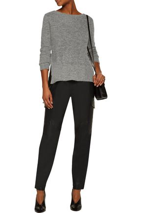 RAG & BONE Bea suede-paneled alpaca-blend sweater