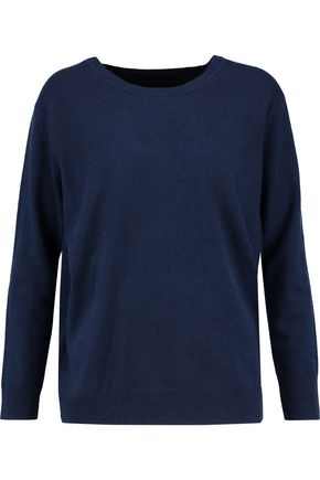 SANDRO Wrap-effect wool and cashmere-blend sweater