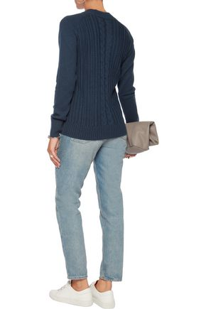 AG Jeans Leon cable-knit wool and cashmere-blend sweater