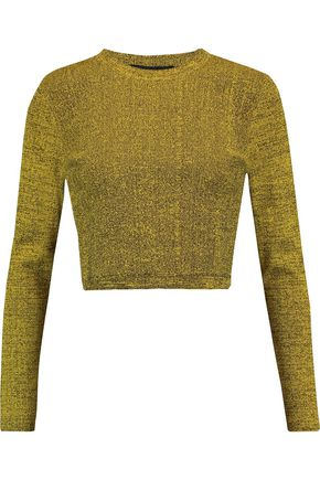 PROENZA SCHOULER Cropped mélange stretch-knit sweater