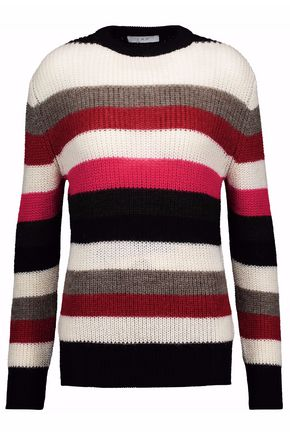 IRO Striped ribbed-knit sweater