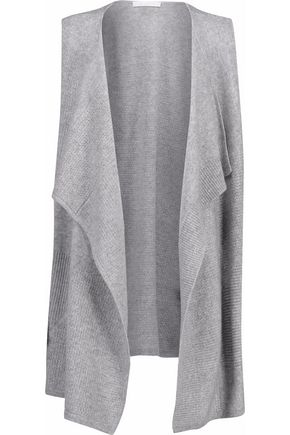 DUFFY Pointelle-knit cashmere vest
