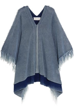 CHLOÉ Fringed cotton poncho