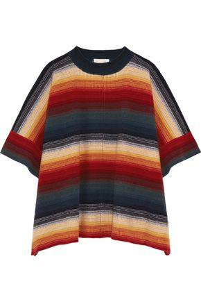 CHLOÉ Merino wool and cashmere-blend poncho