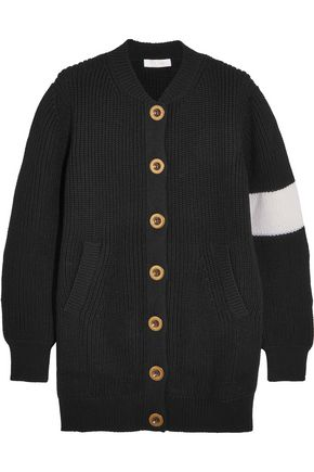 CHLOÉ Two-tone wool cardigan