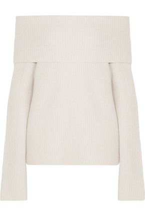 THE ROW Agneta off-the-shoulder cashmere sweater
