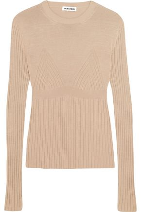 JIL SANDER Ribbed-knit sweater