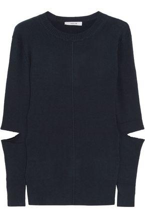 ADEAM Cutout ribbed-knit sweater