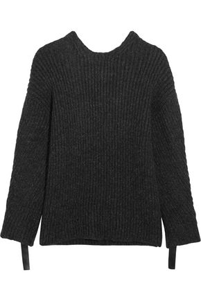 3.1 PHILLIP LIM Embellished ribbed-knit open-back sweater