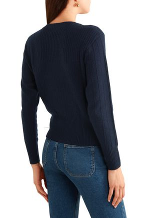 FRAME Ribbed wool and cashmere-blend sweater