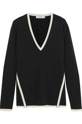 LANVIN Two-tone wool sweater