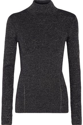 DIANE VON FURSTENBERG Tess metallic merino wool-blend turtleneck sweater