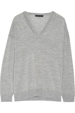 ALEXANDER WANG Cutout merino wool sweater