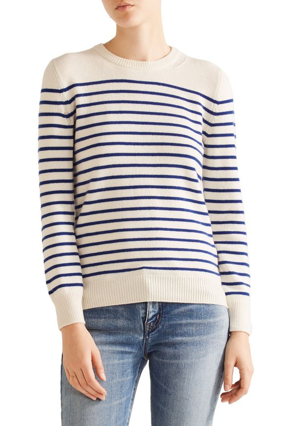 Striped cashmere sweater | SAINT LAURENT | Sale up to 70% off | THE OUTNET