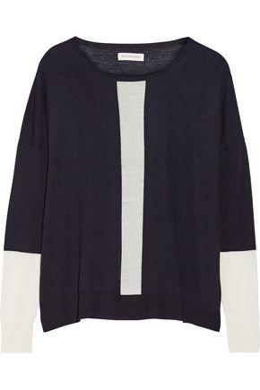 CHINTI AND PARKER Tow-tone merino wool sweater