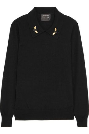 MARKUS LUPFER Sarah embellished wool sweater