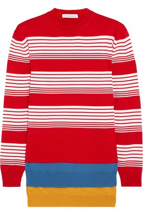 J.W.ANDERSON Layered striped merino wool sweater