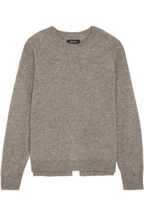ISABEL MARANT Clash split-back wool, yak and cotton-blend sweater