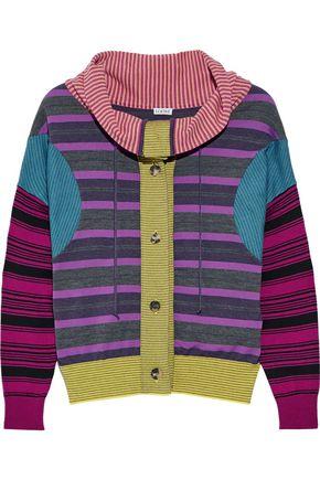 LOEWE Striped wool-blend sweater