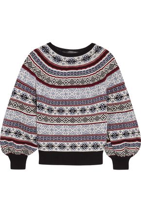 ALEXANDER MCQUEEN Fair Isle knitted sweater