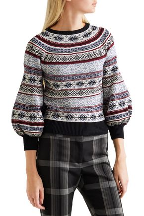 Fair Isle knitted sweater | ALEXANDER MCQUEEN | Sale up to 70% off ...