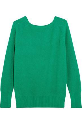 MAJE Cutout ribbed-knit sweater