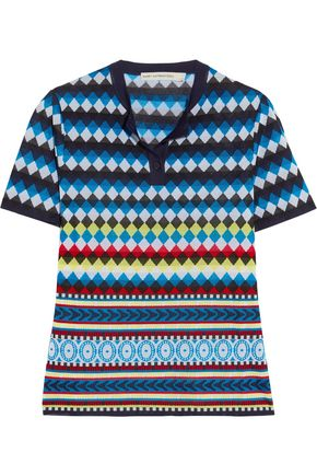 MARY KATRANTZOU Clio jacquard-knit top