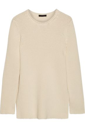 THE ROW Selina ribbed cotton-blend sweater