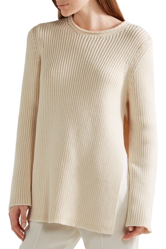 Selina ribbed cotton-blend sweater   THE ROW   Sale up to 70% off   THE  OUTNET
