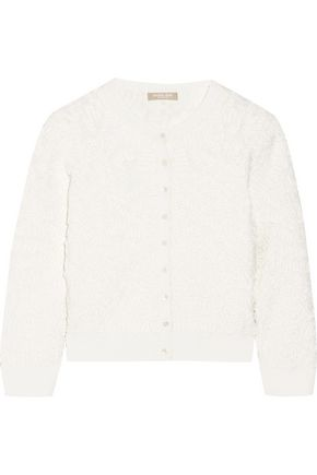 MICHAEL KORS COLLECTION Cropped soutache stretch-knit cardigan