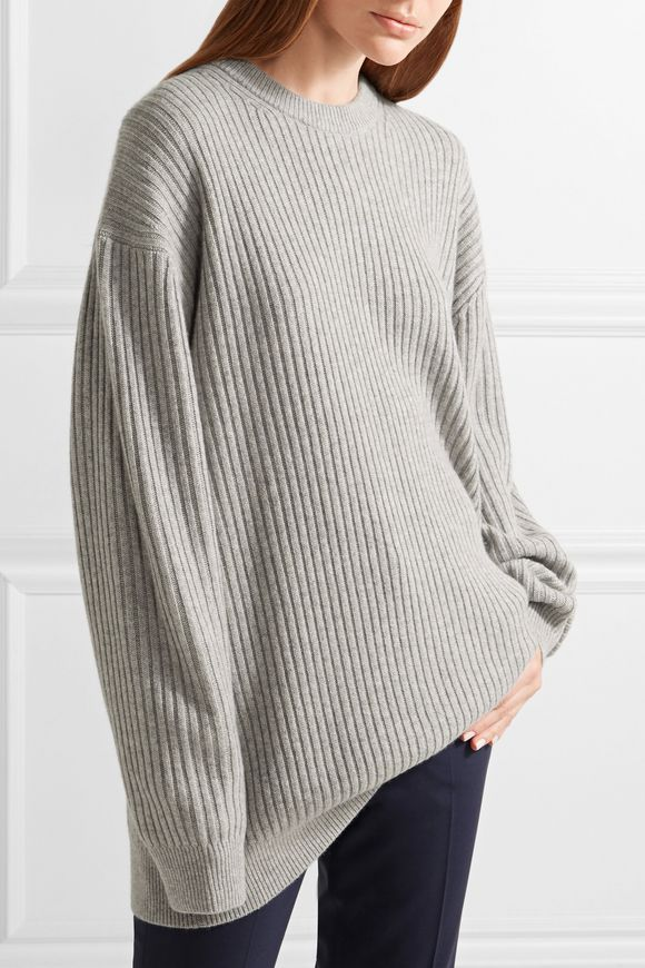 888aae3f89cf Oversized ribbed cashmere sweater