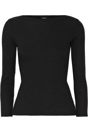 THEORY Begiu B. Belsay ribbed stretch-knit top
